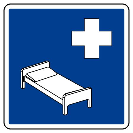 Hospital Symbol Sign, Vector Illustration, Isolate On White Background Label. EPS10