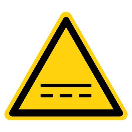 Warning Direct Current DC Symbol Sign, Vector Illustration, Isolate On White Background Label. EPS10