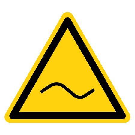 Warning Alternating Current AC Symbol Sign, Vector Illustration, Isolate On White Background Label. EPS10 向量圖像