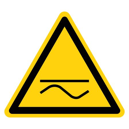 Warning Both Direct And Alternating Current Symbol Sign, Vector Illustration, Isolate On White Background Label. EPS10
