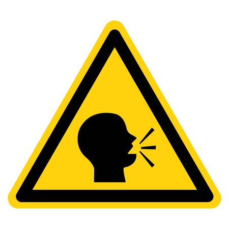 Warning Keep Silence Symbol Sign, Vector Illustration, Isolate On White Background Icon.