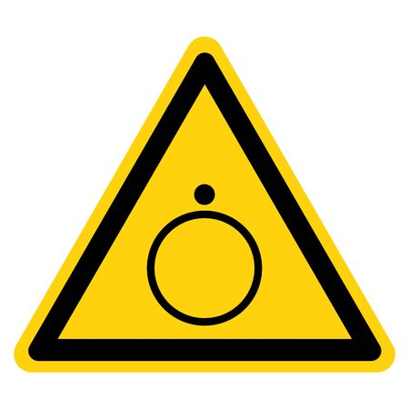 Warning Off For Part Of Equipment Symbol Sign, Vector Illustration, Isolate On White Background Label.