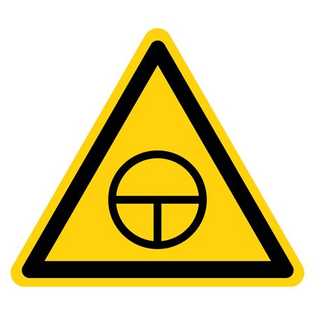 Warning On Off Push-Button Symbol Sign, Vector Illustration, Isolate On White Background Label.