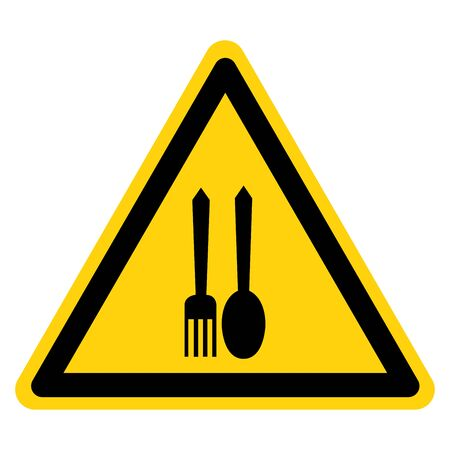 Warning No Food Allowed Symbol Sign, Vector Illustration, Isolate On White Background Label . Vector Illustratie