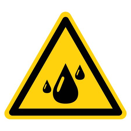 Warning Do Not Let Water And Humidity Touch The Filter Symbol Sign, Vector Illustration, Isolate On White Background Label . Ilustrace