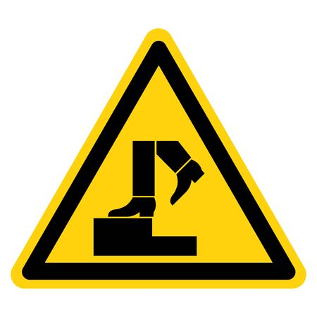 Warning No Step Symbol Sign, Vector Illustration, Isolate On White Background Label