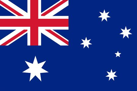 The Original Flag of Australia,Vector Illustration The Color of the Original, Official Colors and Proportion Correctly,Correct Size, Isolate White Background Label . Standard-Bild - 134672018