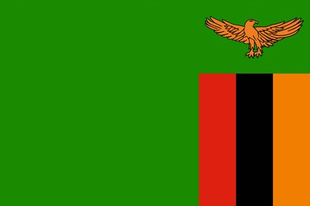 The Original Flag of Zambia,Vector Illustration The Color Of The Original,  Official Colors and Proportion Correctly, Isolate White Background Label . Standard-Bild - 134672025