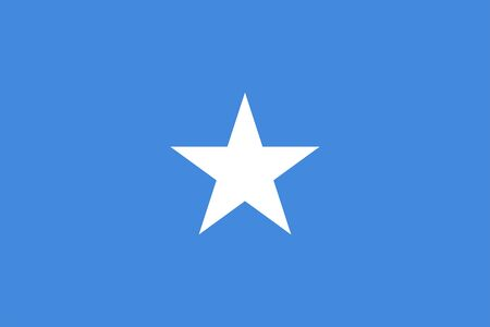 The Original Flag of Somalia,Vector Illustration The Color of the Original, Official Colors and Proportion Correctly,Correct Size, Isolate White Background Label Standard-Bild - 134672058