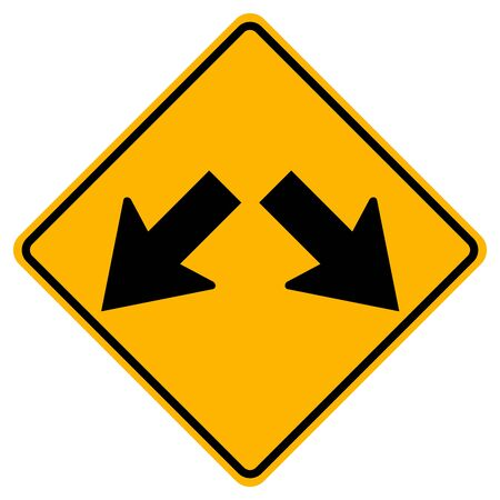 Warning Keep Left or Keep Right Traffic Road Sign,Vector Illustration, Isolate On White Background Label. EPS10