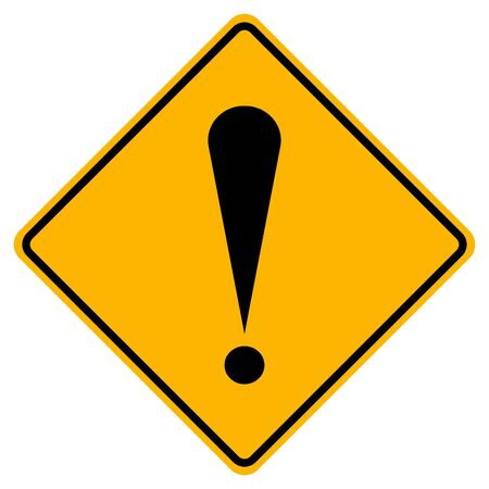 Caution Warning Sign,Vector Illustration, Isolate On White Background Label. Standard-Bild - 134717849