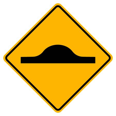 Warning Bumps ahead Traffic Road Sign,Vector Illustration, Isolate On White Background Label. EPS10