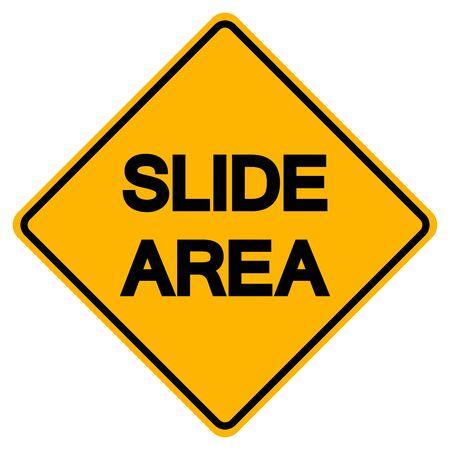 Signe de symbole de zone de diapositive, illustration vectorielle, isoler sur fond blanc, étiquette.