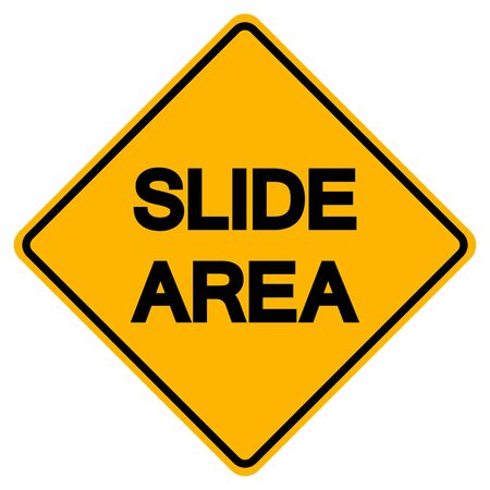 Slide Area Symbol Sign, Vector Illustration, Isolate On White Background, Label. Иллюстрация