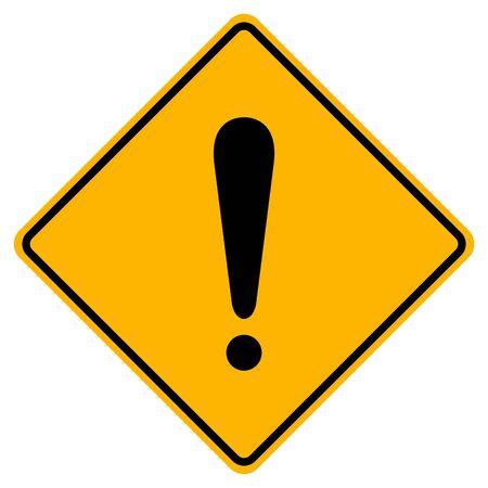 Hazard Warning Symbol Sign,Vector Illustration, Isolate On White Background Label. Standard-Bild - 134717764