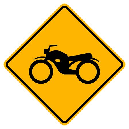 Warning Traffic Road Sign Keep The Motorcycle Ride, Vector Illustration, Isolate On White Background Label. EPS10 Standard-Bild - 134559141