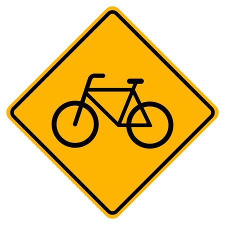 Warning Bicycles Only traffic Road Sign, Vector Illustration, Isolate On White Background Label. Иллюстрация