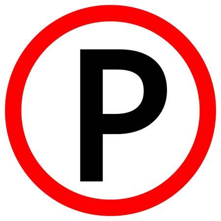 No Parking Symbol Sign,Vector Illustration, Isolate On White Background Label. Standard-Bild - 134732188