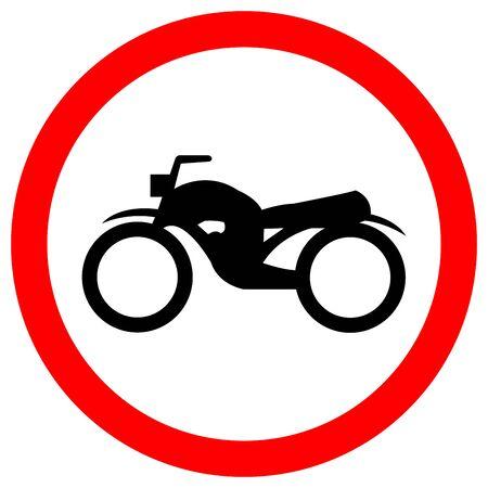Traffic Road Sign Keep The Motorcycle Ride, Vector Illustration, Isolate On White Background Label. EPS10  Ilustração