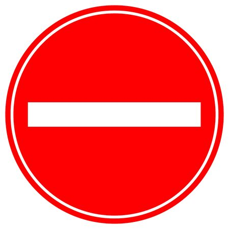 No Entry Traffic Road Symbol Sign, Vector Illustration, Isolate On White Background, Label.