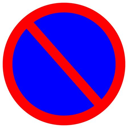 No Parking Traffic Road Sign,Vector Illustration, Isolate On White Background Label.