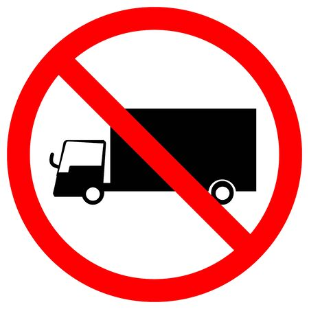 Prohibit Truck Traffic Road Sign,Vector Illustration, Isolate On White Background Label. EPS10  Ilustrace