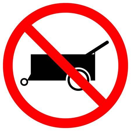 Prohibit Forbid Wheel Traffic Road Symbols Sign,Vector Illustration, Isolate On White Background, Label.