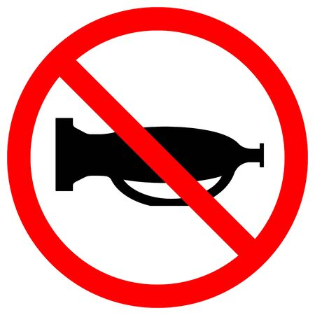 Do Not Use The Sound,Do Not Use The Horn Symbol Sign,Vector Illustration, Isolate On White Background, Label.