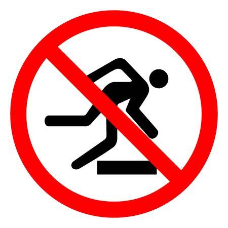 Danger Obstacles Symbol Sign, Vector Illustration, Isolate On White Background Label .