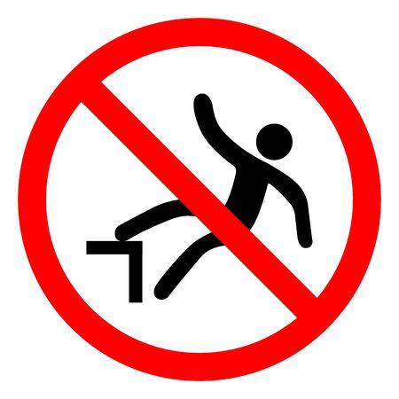 injury Hazard Drop Symbol, Vector Illustration, Isolate On White Background Label.