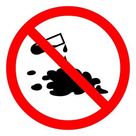 Danger Chemical Spill Symbol Sign ,Vector Illustration, Isolate On White Background Label Reklamní fotografie - 137041321