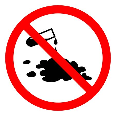 Danger Chemical Spill Symbol Sign ,Vector Illustration, Isolate On White Background Label Ilustrace