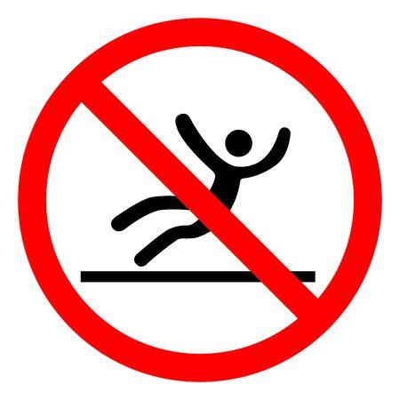 Danger Slippery Surface Symbol, Vector  Illustration, Isolated On White Background Label