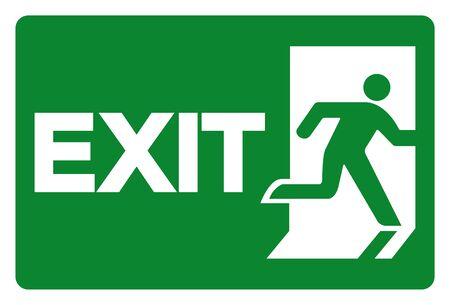 Exit Symbol Sign, Vector Illustration, Isolate On White Background Label. Illustration