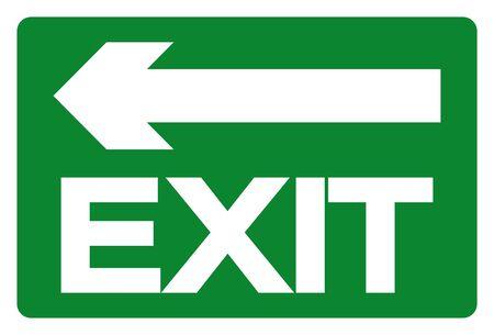 Exit Symbol Sign, Vector Illustration, Isolate On White Background Label. Векторная Иллюстрация