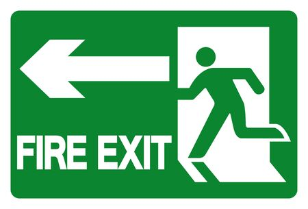 Fire Exit Symbol Sign, Vector Illustration, Isolate On White Background Label. EPS10