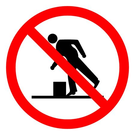 Danger Obstacles Symbol, Vector Illustration, Isolate White Background Label. EPS10