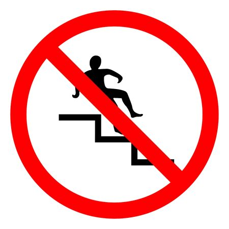 Danger Step Symbol, Vector Illustration, Isolate On White Background Label.