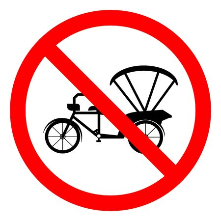 Danger Tricycle Symbol Sign,Vector Illustration, Isolate On White Background Label.