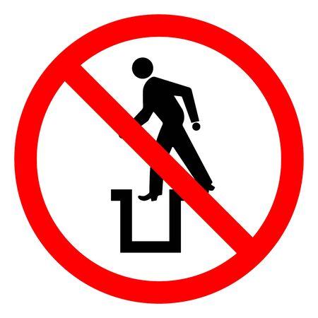 Danger Bottomless Pit Symbol Sign,Vector Illustration, Isolate On White Background Label.