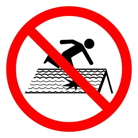 Danger Fragile Roof Symbol Sign, Vector Illustration, Isolate On White Background Label. Ilustracja