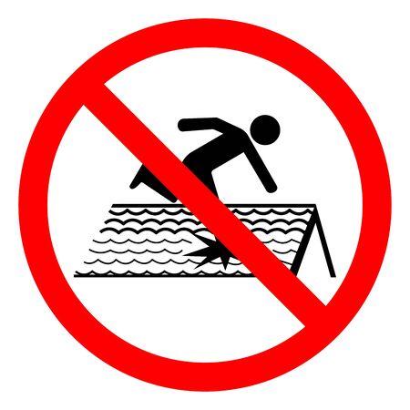 Niebezpieczeństwo kruche dach symbol znak, ilustracji wektorowych, izolować na etykiecie białe tło. Ilustracje wektorowe