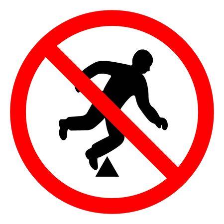 Señal de símbolo de peligro de viaje de peligro, ilustración vectorial, aislar en etiqueta de fondo blanco.