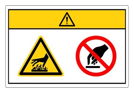 Caution Hot Surface Do Not Touch Symbol Sign, Vector Illustration, Isolate On White Background Label. EPS10
