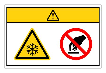 Caution Extremely Cold Surface Do Not Touch Symbol Sign, Vector Illustration, Isolate On White Background Label. 일러스트