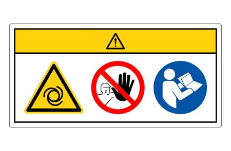 Caution Equipment Starts Automatically Symbol Sign, Vector Illustration, Isolate On White Background Label.