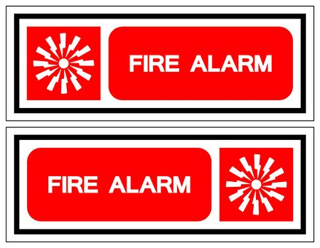 Fire Alarm Symbol Sign, Vector Illustration, Isolate On White Background Label.