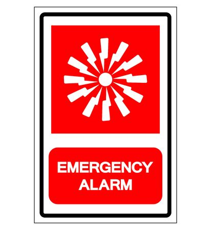 Emergency Alarm Symbol Sign, Vector Illustration, Isolate On White Background Label. EPS10