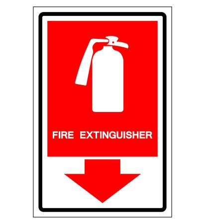 Fire Extinguisher Symbol Sign, Vector Illustration, Isolate On White Background Label. EPS10