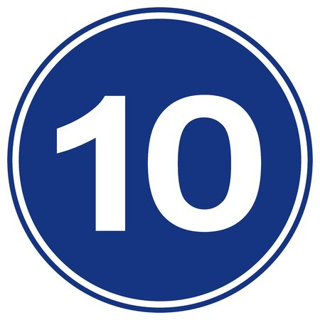 Speed Limit 10 Traffic Sign,Vector Illustration, Isolate On White Background Label.